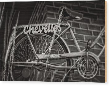 Wood Print featuring the photograph Bike Over Chevelles by Greg Mimbs