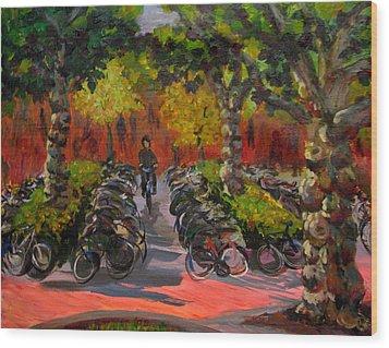Bike Park Wood Print