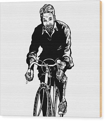Bike Rider Wood Print by Karl Addison
