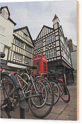 Wood Print featuring the photograph Bikes Galore In Cambridge by Gill Billington