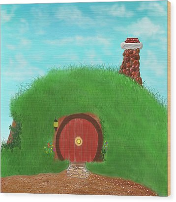 Bilbo's Home In The  Shire Wood Print by Kevin Caudill