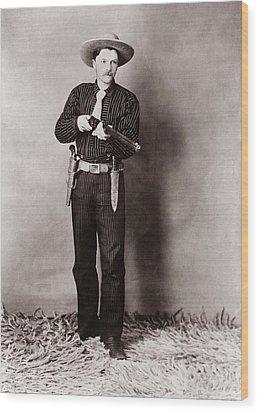 Bill Bennett, Wild West Detective Wood Print by Everett