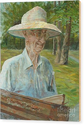 Bill Hines The Legend Wood Print