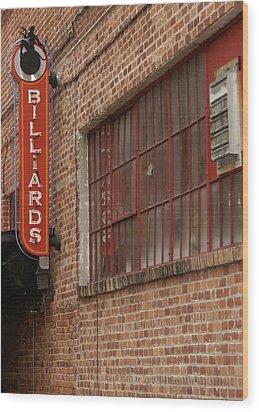 Billard To Bricks Wood Print