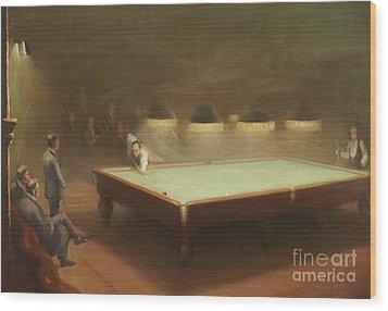 Billiard Match At Thurston Wood Print by English School