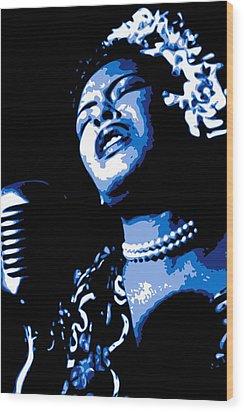 Billie Holiday Wood Print by DB Artist