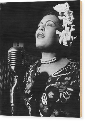 Billie Holiday Wood Print by Everett