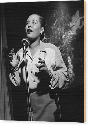 Billie Holiday  New York City Circa 1948 Wood Print by David Lee Guss
