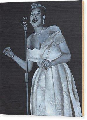 Billie Holiday Wood Print by Patrick Kelly