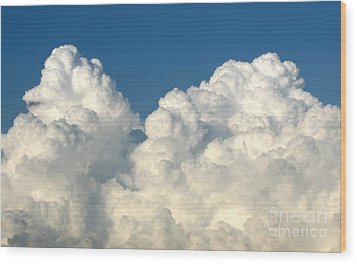Billowing Clouds 1 Wood Print by Rose Santuci-Sofranko