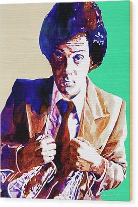 Billy Joel - New York State Of Mind Wood Print by David Lloyd Glover