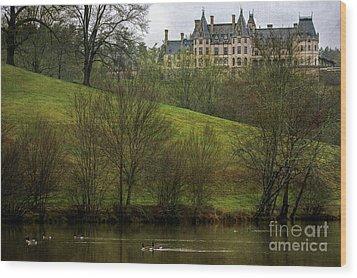 Biltmore Estate At Dusk Wood Print
