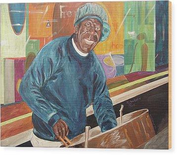 Wood Print featuring the painting Bing Bang Broadway Blues by Kevin Callahan
