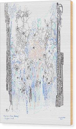 Bingham Fluid Or Paste Wood Print by Regina Valluzzi