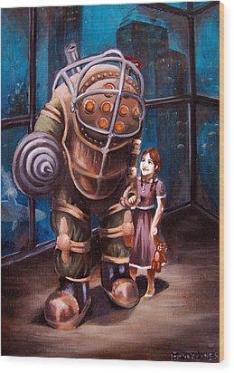 Bioshock Wood Print by Emily Jones
