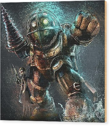 Wood Print featuring the digital art Bioshock by Taylan Apukovska