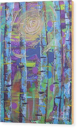 Birch 6 Wood Print