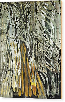 Birch Forest Wood Print by Sarah Loft