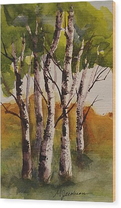 Birch Wood Print by Marilyn Jacobson