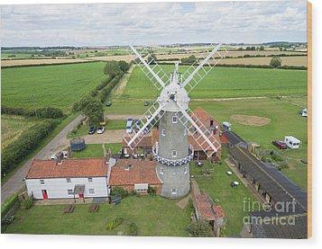 Bircham Windmill Wood Print by Steev Stamford