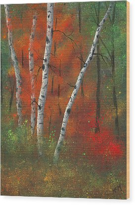 Birches II Wood Print