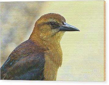 Wood Print featuring the photograph Bird Beauty by Deborah Benoit