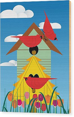 Bird Condo Wood Print