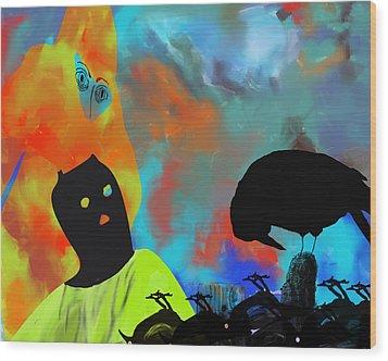 Bird Flu Wood Print by Ann Tracy