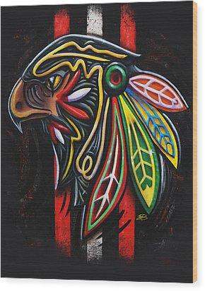 Bird Head Wood Print by Michael Figueroa