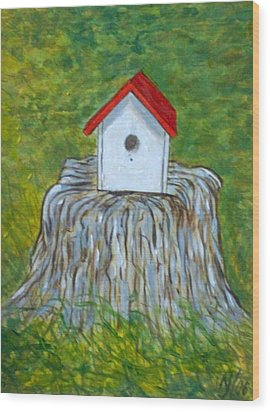 Bird House Wood Print by Norman F Jackson