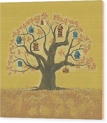 Bird Houses 01 Wood Print by Dennis Wunsch