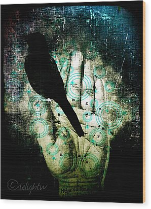 Bird In Hand Wood Print