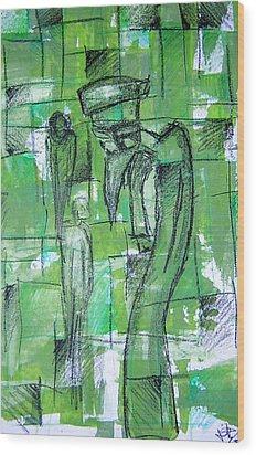 Bird Man Wood Print by Jera Sky