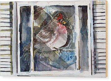 Bird Wood Print by Mindy Newman