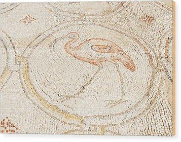 Bird Mosaic Wood Print by Tal Bedrack