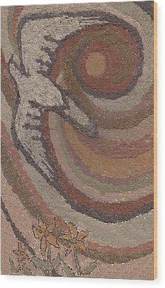 Bird Of Desert Sand Wood Print by Dawn Senior-Trask