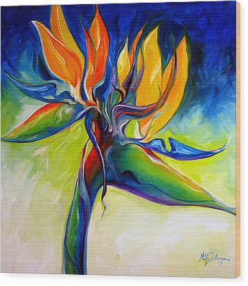 Bird Of Paradise 24 Wood Print by Marcia Baldwin