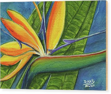 Bird Of Paradise #300b Wood Print by Donald k Hall