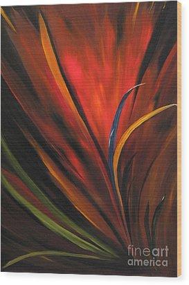 Bird Of Paradise Wood Print by Carol Sweetwood