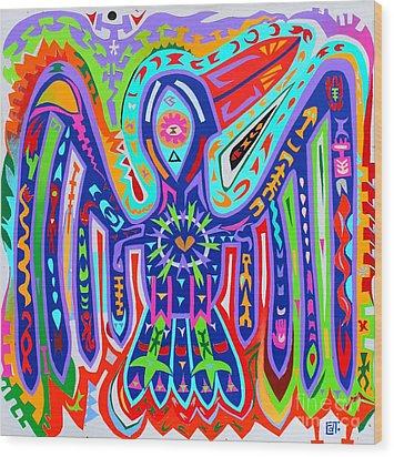 Bird Of Paradise Wood Print by Ed Tajchman