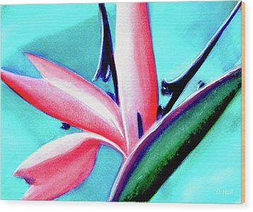Bird Of Paradise Flower #290 Wood Print by Donald k Hall