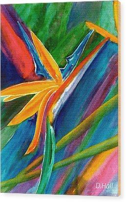 Bird Of Paradise Flower #66 Wood Print by Donald k Hall