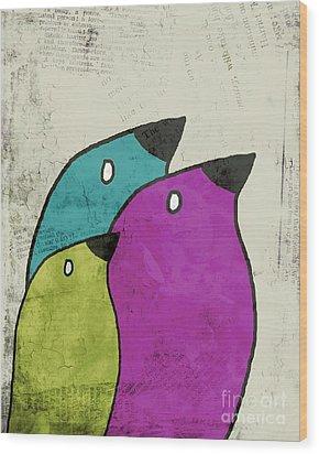 Birdies - V06c Wood Print