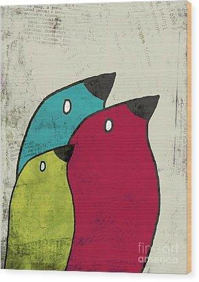 Birdies - V101s1t Wood Print