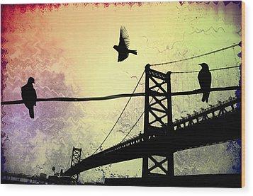 Birds Eye View Wood Print by Bill Cannon