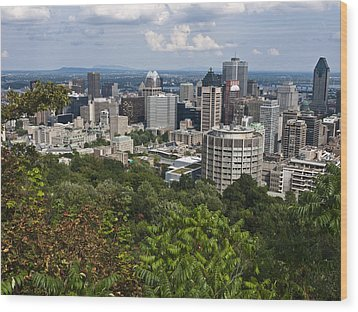 Birds Eye View Of Montreal, Canada Wood Print by Stacy Gold