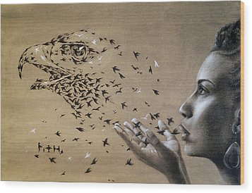Birds Of Poetry  Wood Print by Fithi Abraham