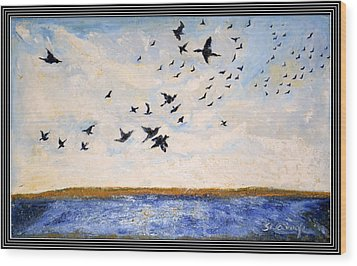 Birds In Flight At Pushkar Wood Print by Anand Swaroop Manchiraju