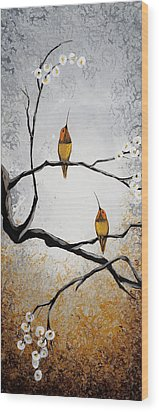 Birds Wood Print by Mike Irwin