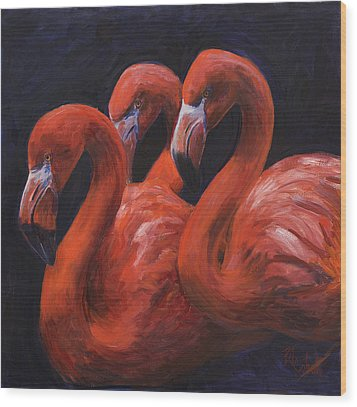 Birds Of A Feather Wood Print by Billie Colson